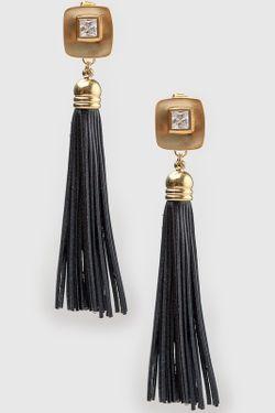 Серьги Patricia Bruni                                                                                                              чёрный цвет