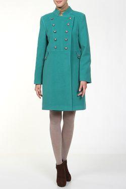 Пальто Анора                                                                                                              зелёный цвет