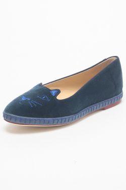 Балетки Charlotte Olympia                                                                                                              синий цвет