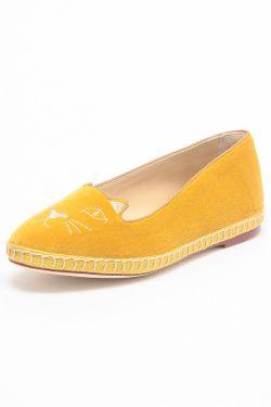 Балетки Charlotte Olympia                                                                                                              желтый цвет