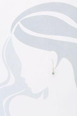Серьги Diamond Family                                                                                                              белый цвет