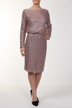 Платье St. John                                                                                                              розовый цвет