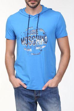 Футболка Love Moschino                                                                                                              синий цвет