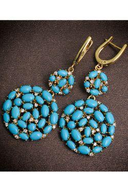 Серьги NINA FORD                                                                                                              голубой цвет