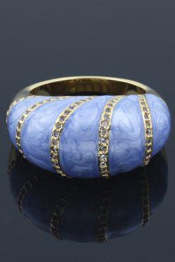 Кольцо NINA FORD                                                                                                              голубой цвет