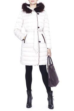 Пальто Пуховое La Reine Blanche                                                                                                              бежевый цвет
