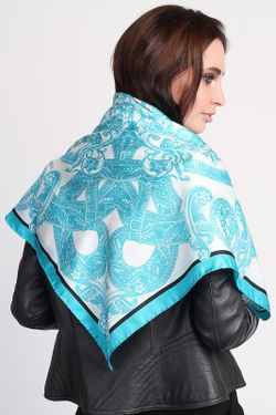 Платок Versace                                                                                                              голубой цвет