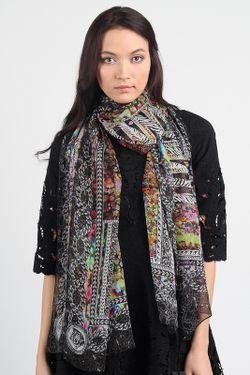 Палантин Versace                                                                                                              черный цвет