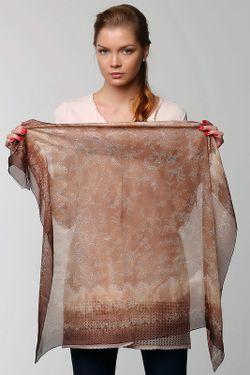 Платок Valentino                                                                                                              коричневый цвет
