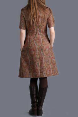 Платье ЭНСО                                                                                                              коричневый цвет
