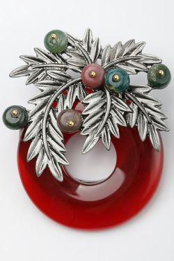 Брошь-Кулон ZAXA HADID                                                                                                              красный цвет