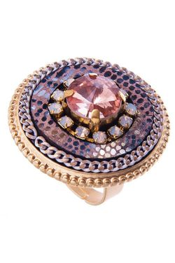 Кольцо Selena                                                                                                              бежевый цвет