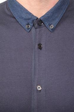 Рубашка Emporio Armani                                                                                                              синий цвет