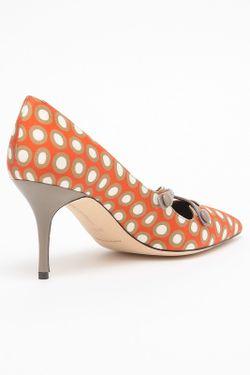 Туфли Manolo Blahnik                                                                                                              оранжевый цвет