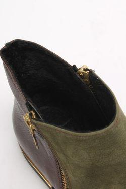 Ботинки SM SHOESMARKET                                                                                                              зелёный цвет