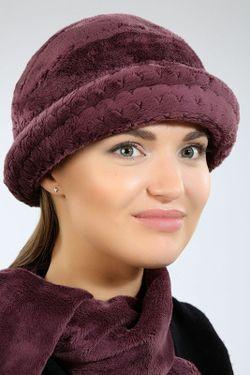 Комплект Шляпка И Шарф Loricci                                                                                                              фиолетовый цвет