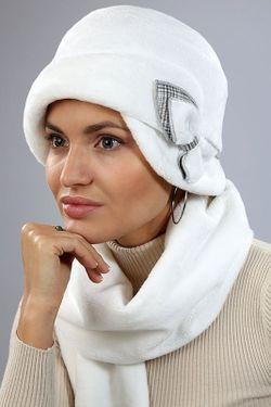 Комплект Шляпка И Шарф Loricci                                                                                                              белый цвет