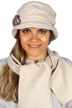 Комплект Шляпка И Шарф Loricci                                                                                                              бежевый цвет