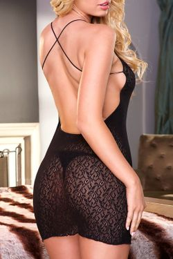Платье-Мини Hustler Lingerie                                                                                                              чёрный цвет