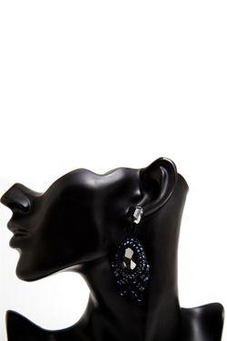 Серьги Jaffrey de Marenta                                                                                                              чёрный цвет