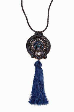 Колье Jaffrey de Marenta                                                                                                              синий цвет