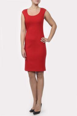 Платье Вязаное St. John                                                                                                              красный цвет