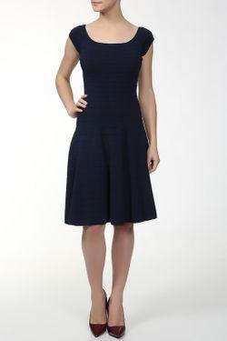 Платье Вязаное Donna Karan                                                                                                              синий цвет