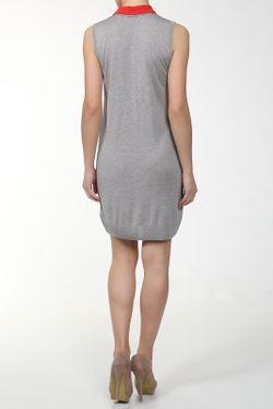 Платье Вязаное С Поясом Unee+O                                                                                                              серый цвет