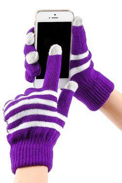 Перчатки Для Смартфонов Grezzo                                                                                                              фиолетовый цвет