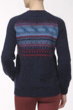 Пуловер Брелок Sophie Hulme                                                                                                              синий цвет