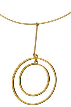 Ожерелье Золотые Круги Kenneth Jay Lane                                                                                                              многоцветный цвет