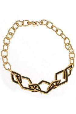 Ожерелье Черные Ромбы Kenneth Jay Lane                                                                                                              многоцветный цвет