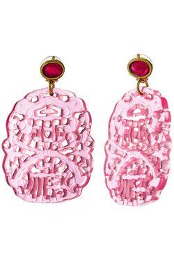 Серьги Диско Розовые Kenneth Jay Lane                                                                                                              многоцветный цвет