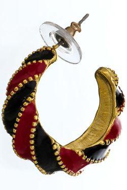 Серьги Красно-Черные Kenneth Jay Lane                                                                                                              многоцветный цвет