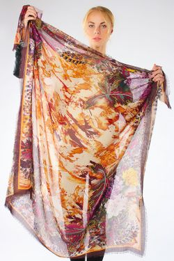 Платок Paccia                                                                                                              коричневый цвет