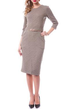 Платье OKS                                                                                                              коричневый цвет