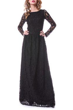 Платье OKS                                                                                                              чёрный цвет