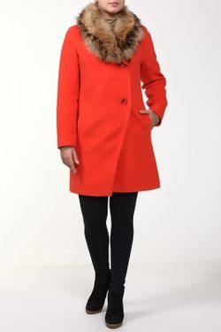 Пальто Фортуна                                                                                                              оранжевый цвет