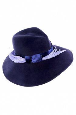 Шляпа Eugenia Kim                                                                                                              синий цвет