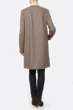 Пальто Прямое Yetonado                                                                                                              коричневый цвет