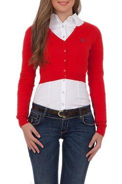 Кардиган U.S. Polo Assn.                                                                                                              красный цвет