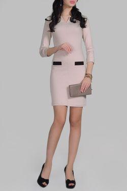 Платье La cafe                                                                                                              бежевый цвет