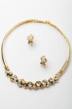 Комплект Колье Серьги ZAXA HADID                                                                                                              золотой цвет