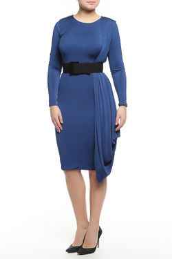Платье С Ремнем Donna Karan                                                                                                              голубой цвет