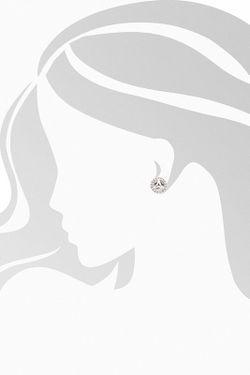 Серьги Charle                                                                                                              белый цвет