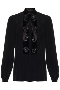 Блуза ROBERTO CAVALLI CRUISE                                                                                                              чёрный цвет
