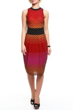 Платье Вязаное Missoni                                                                                                              красный цвет