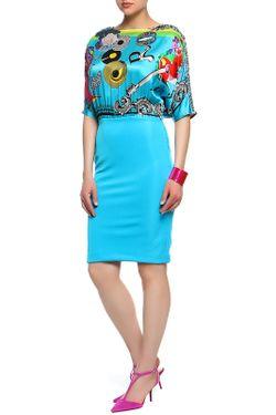 Платье Versace                                                                                                              голубой цвет