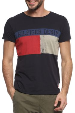 Футболка Tommy Hilfiger Denim                                                                                                              синий цвет