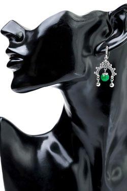 Серьги Cesare Conte                                                                                                              зелёный цвет